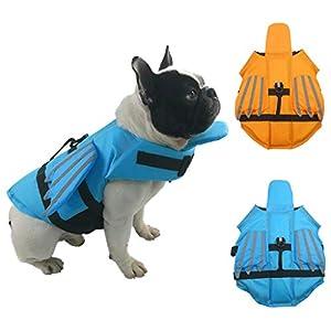 SHUUMEEKA犬 ライフジャケット 小型犬 ペット用品 犬用救命胴衣 水泳の練習 水遊び 高浮力 犬の安全を守る 干しやすい (XL, ブルー)