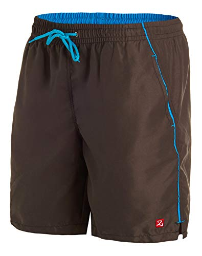 Zagano Badehose, Herren Badeshorts, Boardshorts für Männer mit Kordelzug, Badehose, Sporthose, Shorts S-6XL, Braun, hergestellt in der EU