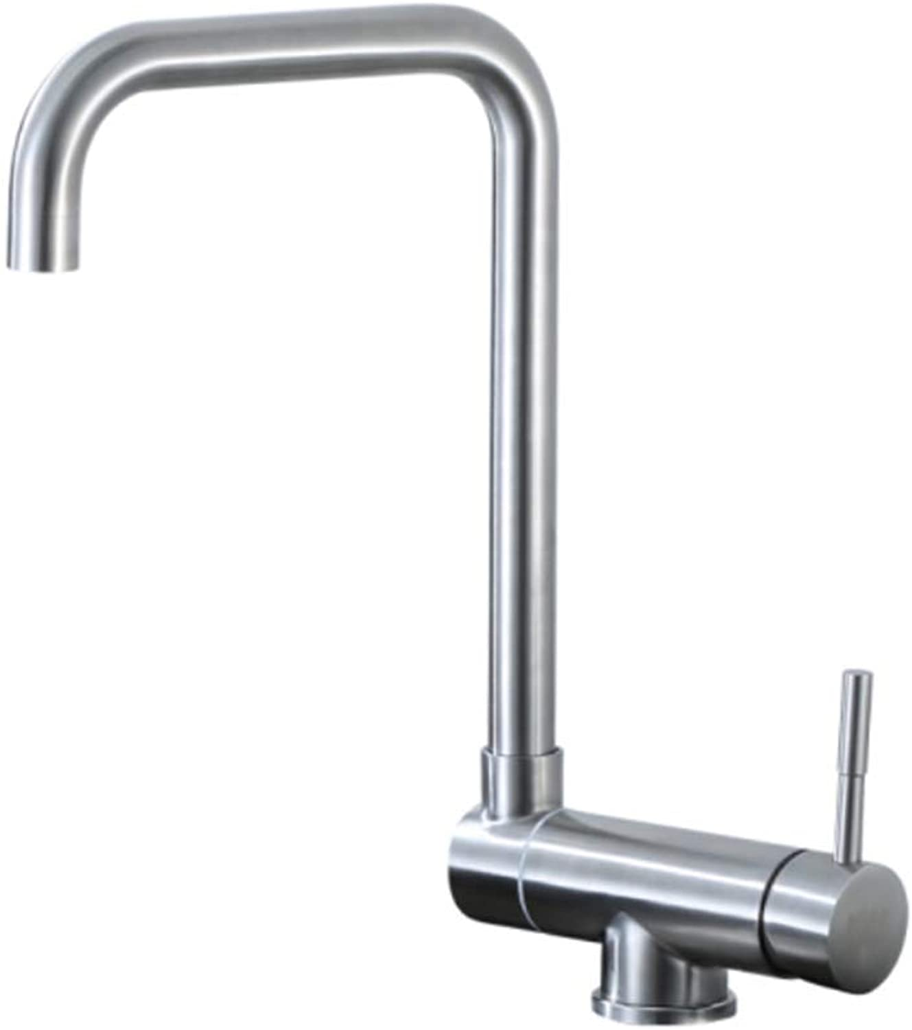 Basin Faucet304 Stainless Steel Kitchen Hot and Cold Faucet Folding, redating, Single Hole Anti Filing Tank, Vegetable Basin.
