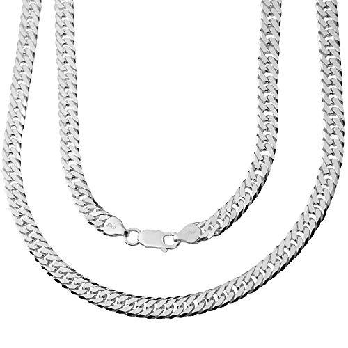 Subalian Silberkette Herren 925 Silber | Panzerkette für Männer in Premiumqualität | besonders robuste Gliederkette Halskette in einzigartiger Schmuck Geschenkbox | schicke Herren Kette 60cm / 6mm