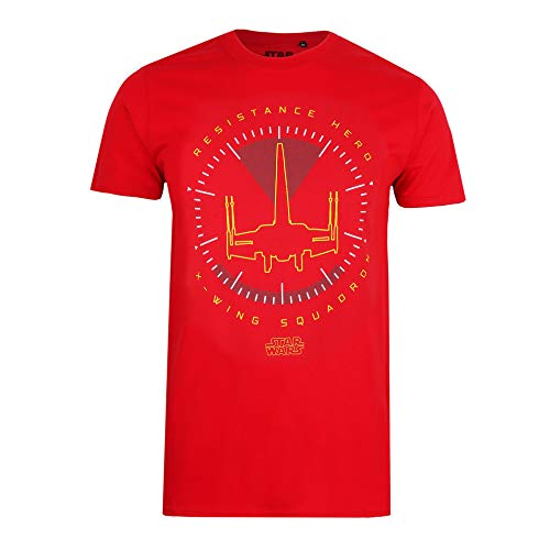 Star Wars Resistance Hero Camiseta, Rojo Cereza, X-Large para Hombre