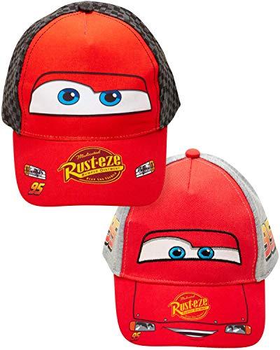 Disney Boys Cars Lightning McQueen Cotton Baseball Cap 2 Pack