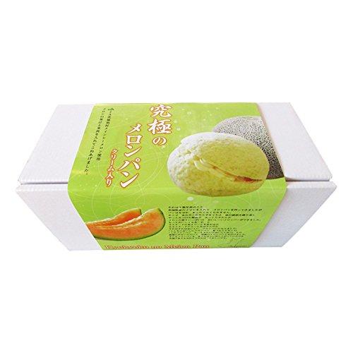 究極のメロンパン5個入セット 茨城県産JA旭村のクインシーメロンの果肉と果汁を入れてこねあげたメロンパンに生カスタードクリームをサンドしました。