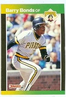 Barry Bonds baseball card (Pittsburgh Pirates Home Run King) 1989 Donruss #92