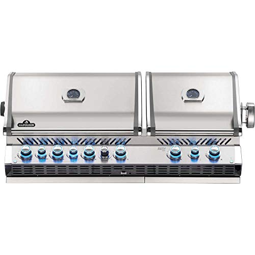 Napoleon BIPRO825RBINSS-3 Built-in Prestige PRO 825 RBI Natural Gas Grill Head, sq.in. + Infrared Infrared Bottom andRear Burner, Stainless Steel - Assembly Free Gas Grill Grills Natural UDS