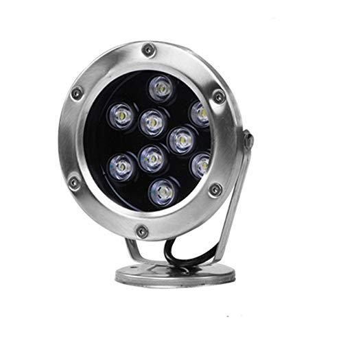 AWSAD Luz subacuática Impermeable de 9W IP68 led, luz de la Fuente, luz Colorida del Paisaje (Color : B, Size : 220v)