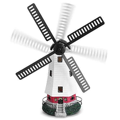 Estink LED Solarwindmühle Licht, Solarleuchte für Garten, Solarbetriebener Leuchttur, Rotierende Windmühlen-Beleuchtung, für Gartenbeleuchtung und -verzierung
