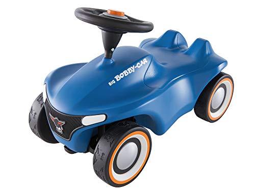 BIG-Bobby-Car Neo Blau, Rutschfahrzeug für drinnen und draußen, Kinderfahrzeug mit Flüsterreifen im modernen Design, für Kinder ab 1 Jahr