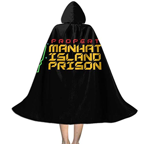 KUKHKU Kapuzenumhang Manhattan Island Prison Escape from New York Unisex Kinder Halloween Weihnachten Party Dekoration Rolle Cosplay Kostüme