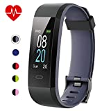 Fitness Tracker with Heart Rate Monitor,Willful Activity Tracker Pedometer with Step Counter Sleep Monitor 14 Sports Tracking,Color Screen IP68 Waterproof,Fitness Watch for Women Men Kids (Gray)