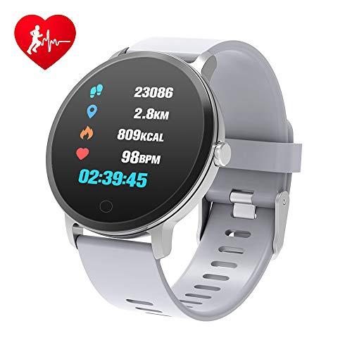 BingoFit Epic Smartwatch, Orologio Fitness Cardiofrequenzimetro da Polso Smart Watch Fitness Activity Tracker Pedometro Orologio Sport per Donna Uomo per Telefoni Android e iOS Grigio