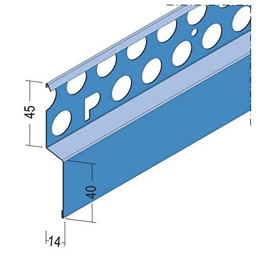 PROTEKTOR Noppenbahnprofil für den Außenputz, ab 12mm, 250 cm | 1 Stück