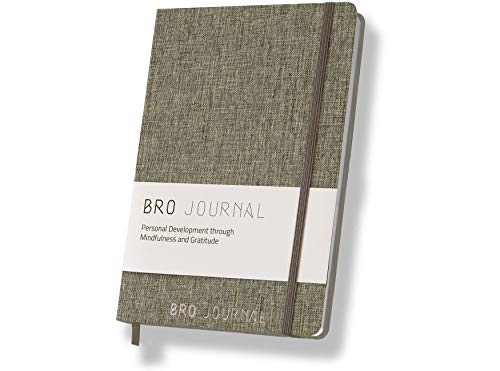 The Bro Journal | Daily Gratitude & Self-Development Journal For Men | 60 Unique Themed Days & Guided Writing Prompts | Increase Happiness, Motivation, Mindfulness & Productivity | Portable A5 Size