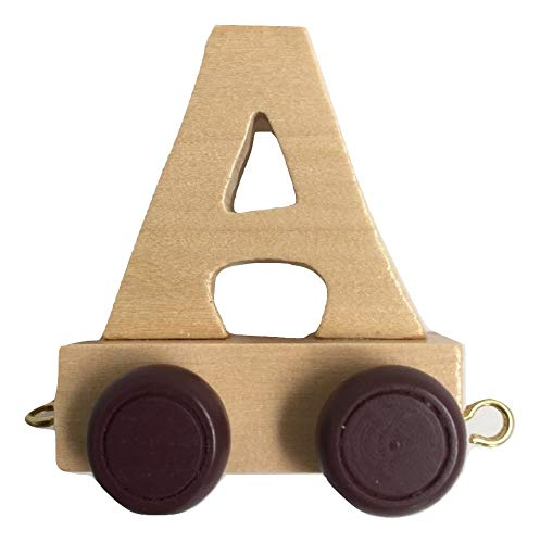 Juego de letras personalizadas de madera para niños, diseño de tren A-Z, todas las letras disponibles A