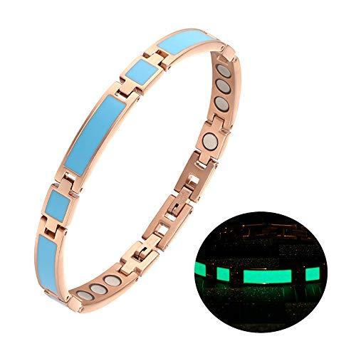 %40 OFF! JFUME Fine Jewelry Night Luminous Bracelet for Women Titanium Steel Magnet Therapy Bracelet...