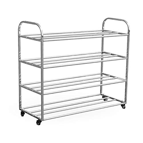 Find Bargain Monkibag-sp Rolling Sports Ball Storage Cart Stainless Steel Ball Cart Rack Storage Rac...
