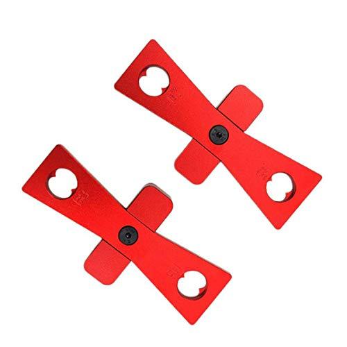 CarAngels 2pcs ダブテールジョイントゲージ 蟻形組みつぎ定規 1:5/1:6/1:7/1:8 ダブテールマーキング 木工ケガキツール