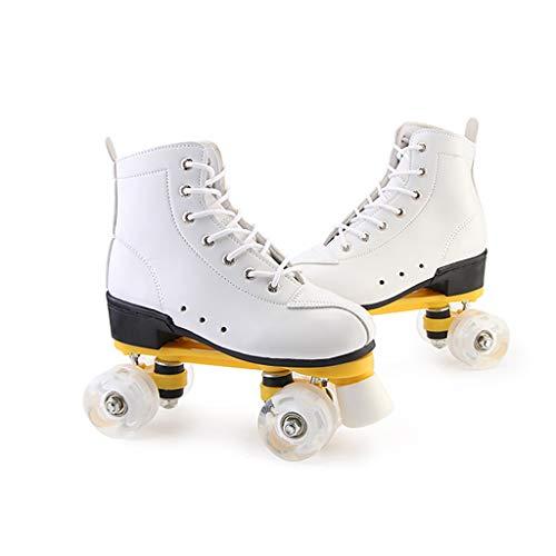 lei shop Rollerskates Männer und Frauen, Modische Schuhe, Reines Weiß, Kostenlose Werkzeuge, Geeignet für Jungen und Mädchen