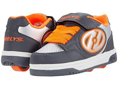 Heelys Boy's Plus X2 (Little Kid/Big Kid/Adult) Charcoal/Orange/Silver 13 Little Kid M