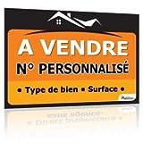 immo-panneaux.com Panneau A Vendre 80 x 60 cm - Tous textes Personnalisables