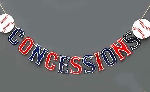 Baseball Concessions Gender-Enthüllung Wimpelbanner, Baseball-Party-Zubehör