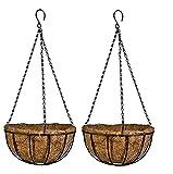 Confezione da 2 vasi da appendere in cocco, per decorare il giardino, per appendere piante decorative originali per interni ed esterni.
