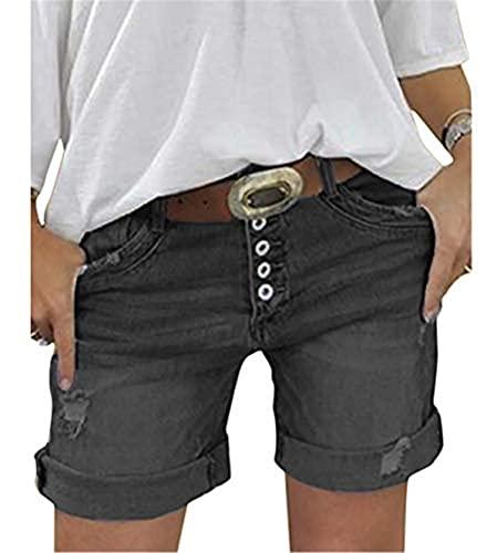 Hami House Women's Denim Shorts Basic wash Jeans Bermuda Shorts Denim Shorts for Women