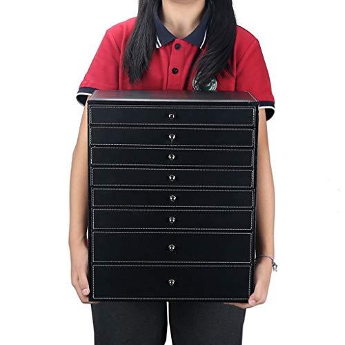 KHUY Relojero Hombre Organizador, Multifunción Caja Relojes Hombre/Mujer Caja de Almacenamiento, Reloj de Estilo Coreano Reloj de Regalo Pendientes Relojes Joyería