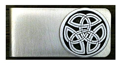 Celtic Tri Knot Money Clip Irish Scottish Celtic Designs in Fine Pewter