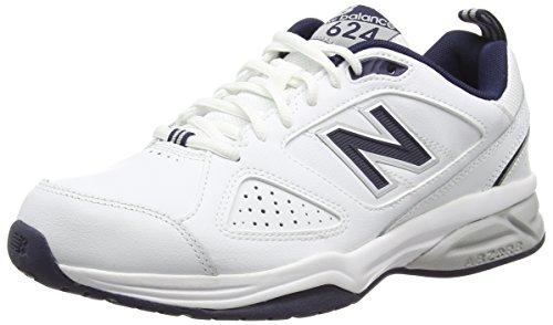 New Balance 624V4, Scarpe da Corsa da Uomo, Colore Bianco (White), Taglia 10.5 UK (45 EU)