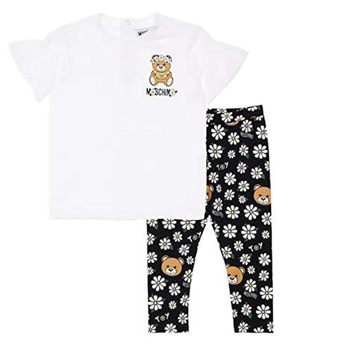 Moschino Bambina Completo t-Shirt e Leggings in Jersey di Cotone MDG00DLBB5785336K Multicolor 2A