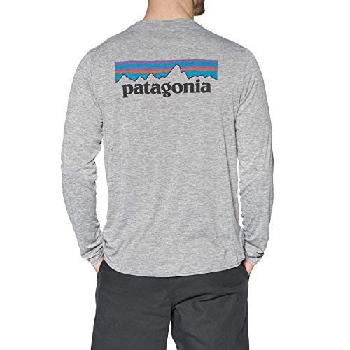 Patagonia Herren Sweatshirt M's L/S Cap Cool Daily Graphic Shirt, P-6 Logo: Feather Grey, M, 45190