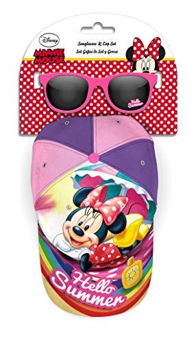 Minnie Mouse Set Cappello Occhiali da Sole Alpinismo e Trekking Unisex Bambini Ragazzi (Multicolore), Taglia Unica
