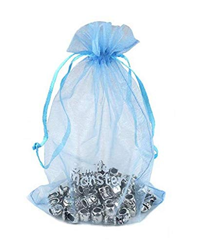Uayasily 7 * 9cm Organza Material Drawstring Pouches Daily Stuff Jewelry Organizers Party Wedding Gift Bags