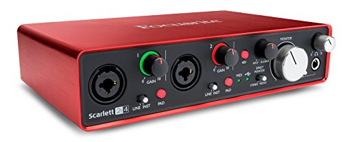 Focusrite 2nd generazione audio interface 2 in / 4 out USB, Scarlett 2i4 Seconda generazione