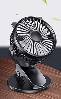 【アマゾン倉庫即納】2020年最新版 かわいい猫耳 クリップ式扇風機 USB卓上扇風機 おしゃれ 超強風 ミニファン 軽量 静音サーキュレーター USBファン小型便携720°調節可能 風量3段階調節 扇風機 デスク 個人用 オフィス (ブラック)