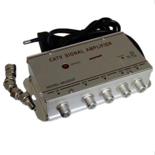 Amplificatore Segnale Antenna Con 4 Uscite Tv Digitale Terrestre Decoder