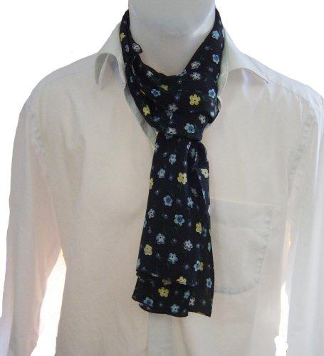 Monsieur écharpe chiffon de soie Cravate Écharpe à nouer Monsieur Tissu 100% pur soie Alternative à la cravate