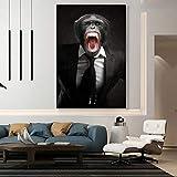 wopiaol Kein Rahmen Wandkunst Leinwand Malerei Angry Monkey