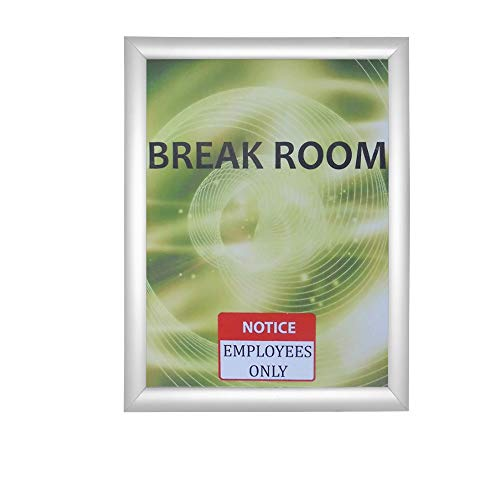 Aluminum Snap Frame for Poster 8.5 x 11 Inches, 25mm Profile, Color Silver
