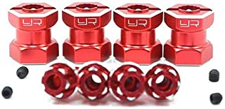 Yeah Racing  Aluminum Hex Adaptor 15mm Offset For 12mm Hex Wheels Red 4pcs -WA-023RD