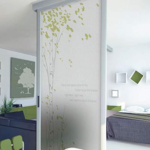 MWLSW Wandaufkleber Glasfolie Polyethylenglas Sticker Blumenfenster Sticker Glasmalerei Home Fenster Dekor Kontaktpapier BLT707 Light Sing