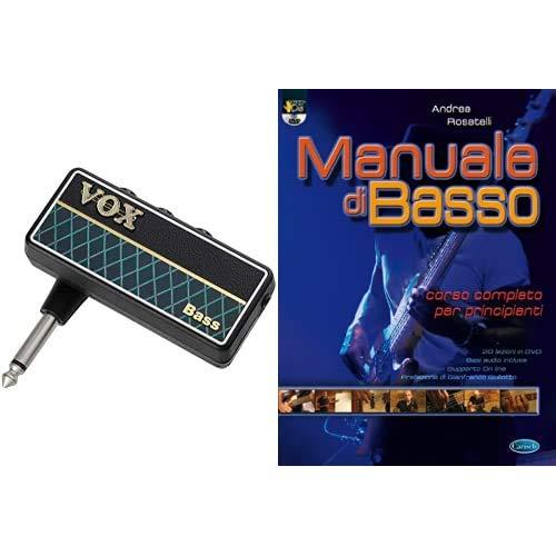VOX Amplug 2 Ap2-BS, Bass & Hal Leonard Manuale di basso. Corso completo per principianti. Con DVD: Carisch Music Lab Italia