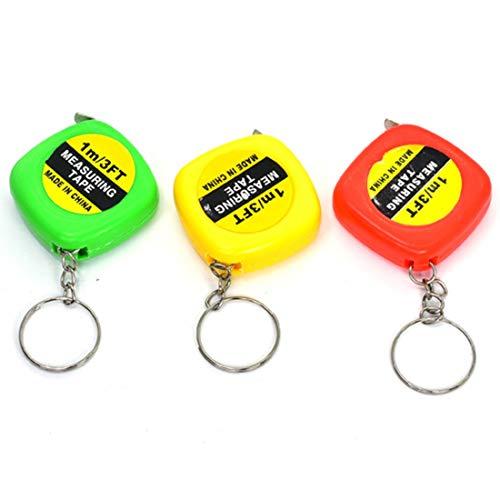 WXX 4 PCS Portable Easy to Retract Square Small Tape Measure Key Ring Pendant(Random Color Delivery) (Color : Random Color Delivery)