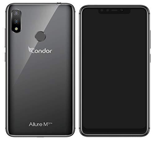 Condor Allure M3 Lite Smartphone débloqué 4G (Ecran : 5,8''- 32 Go - Double Sim - Android 8.1 Oréo) Noir