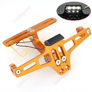 FidgetFidget CNC License Plate Bracket Fender Eliminator for KTM 125 200 250 690 1190 Duke Orange