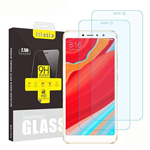 iTieTie 2-Unidades Protector de Pantalla para Redmi S2, Sin Burbujas, Alta definición, Anti-rasguños, 9H dureza, Protector de Pantalla de Vidrio Templado para Xiaomi Redmi S2
