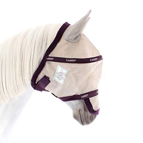 Horseware Rambo Plus Flymask Vamoose - Silver/Plum