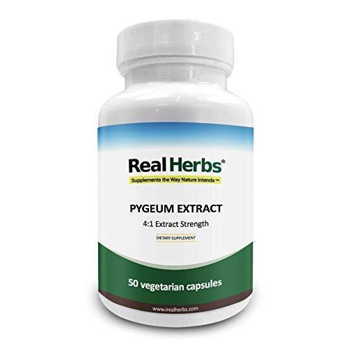 Real Herbs Pygeum 4: 1 Extrakt 500 mg - 50 vegetarische Kapseln
