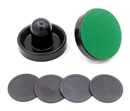 ETbotu Accessoire de rondelles de Hockey réglées de Poussoir de Feutre de Tableau de Hockey sur air d'intérieur de 96mm Black